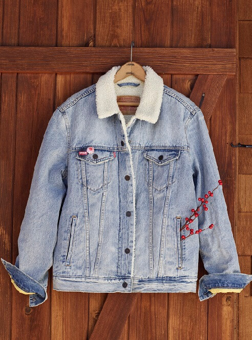 trucker jacket holiday levis