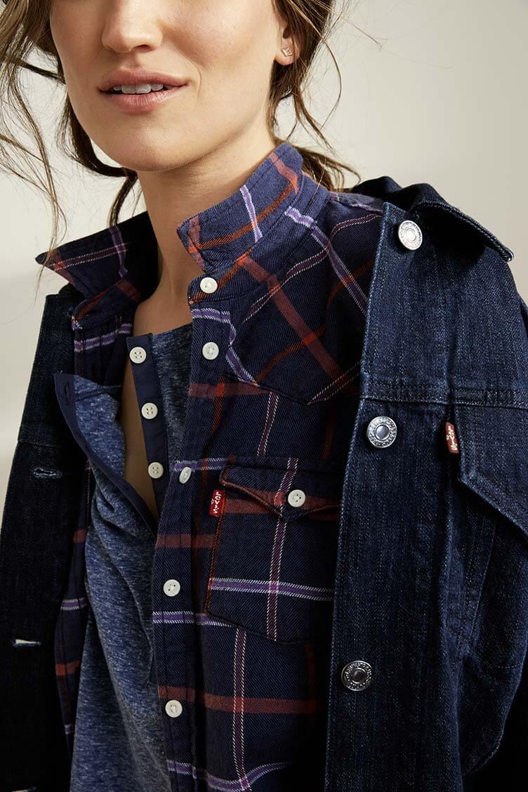 icons women classic shirt trucker jacket denim