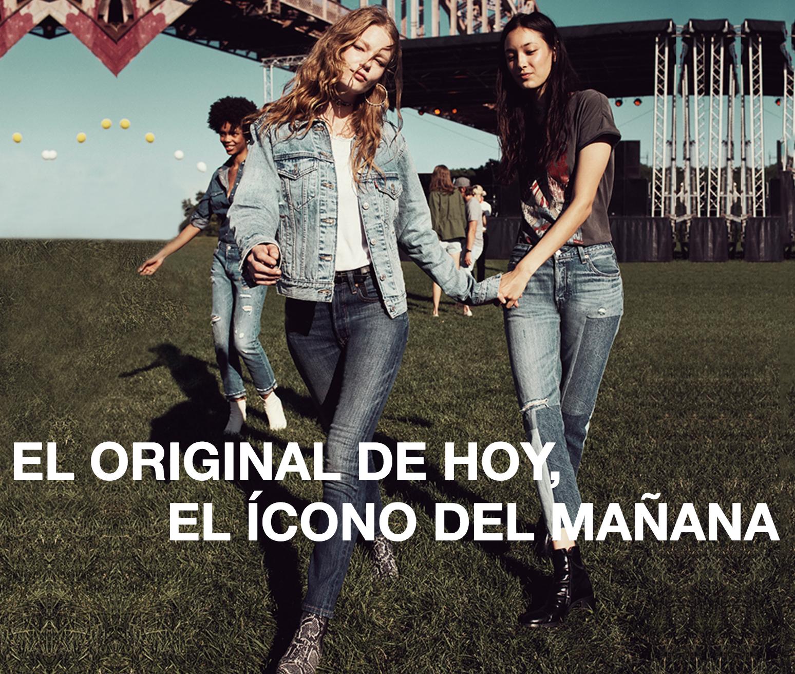 EL ORIGINAL DE HOY, EL ÍCONO DEL MAÑANA denim jeans levi's