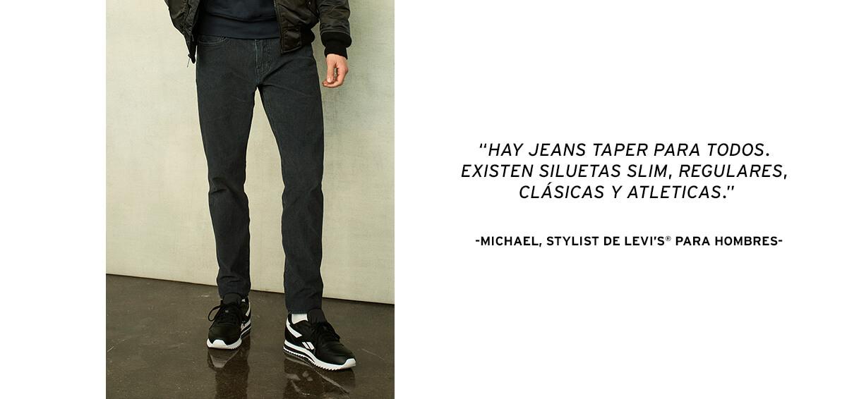 taper jeans levi`s men hombre