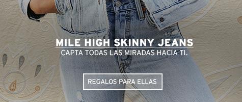 mile high skinny jeans capta todas las miradas hacia ti levis